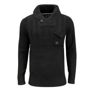 97fee194a72c2 PULL Soul Star Chatsworth Pull-over à col châle pour Ho