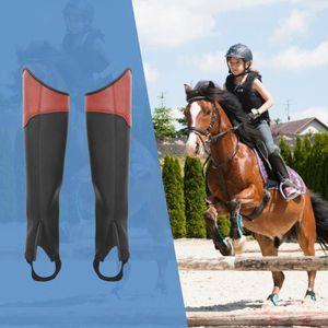 PROTÈGE-JAMBE - CUISSE Adulte Protège-jambe pour l'équitation - Brun - L