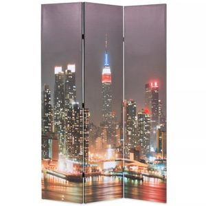 PARAVENT Cloison de séparation pliable 120x180 cm New York