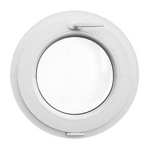 FENÊTRE - BAIE VITRÉE Fenêtre ronde à soufflet 50 cm Blanche PVC oeil de