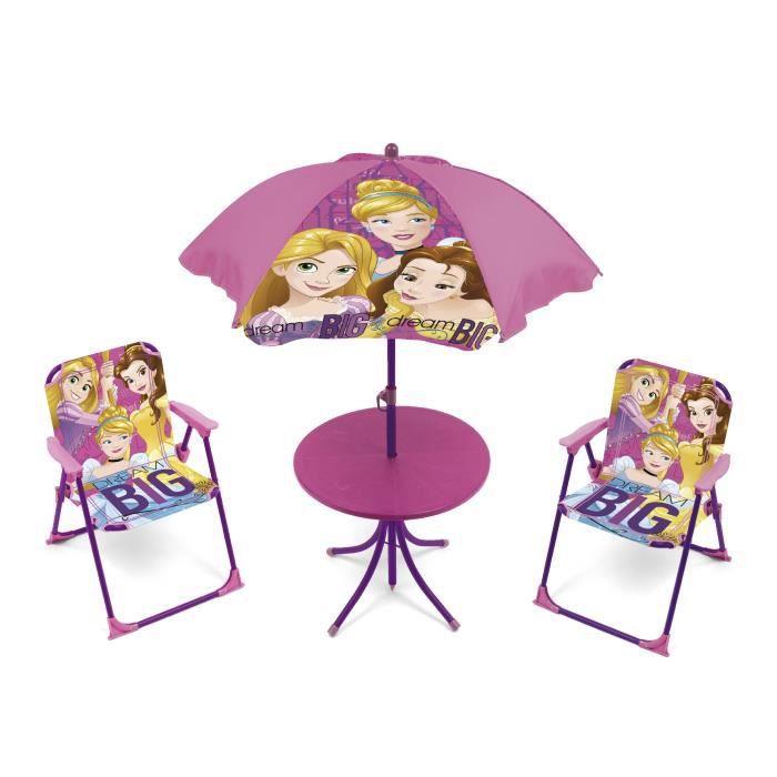 DISNEY PRINCESSES - Salon de jardin 4 pièces enfants