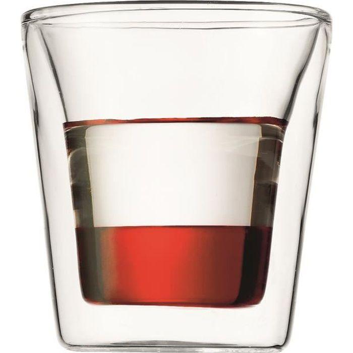 BODUM CANTEEN Set 6 verres double paroi 0.1 l Transparent