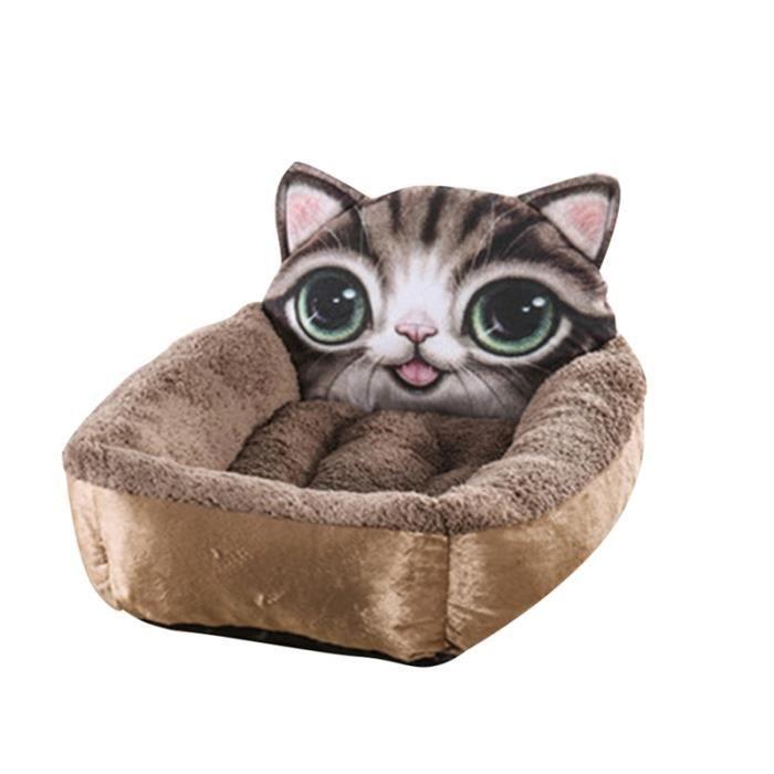 Mignon Chiot Doux Kitty Chien Chat Animal Lit Nest Comfy Coton Rembourré Coussin Panier Snuggly Sleeper Taille L (café)