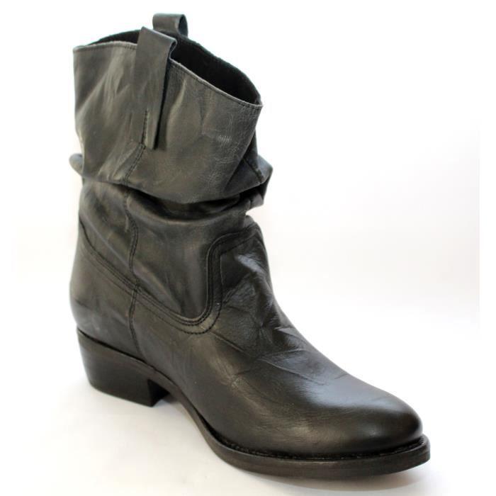 Bottines Neuves Cuir Achat Gris 42 Nuance Chaussures T Femmes pxFqwfrnp