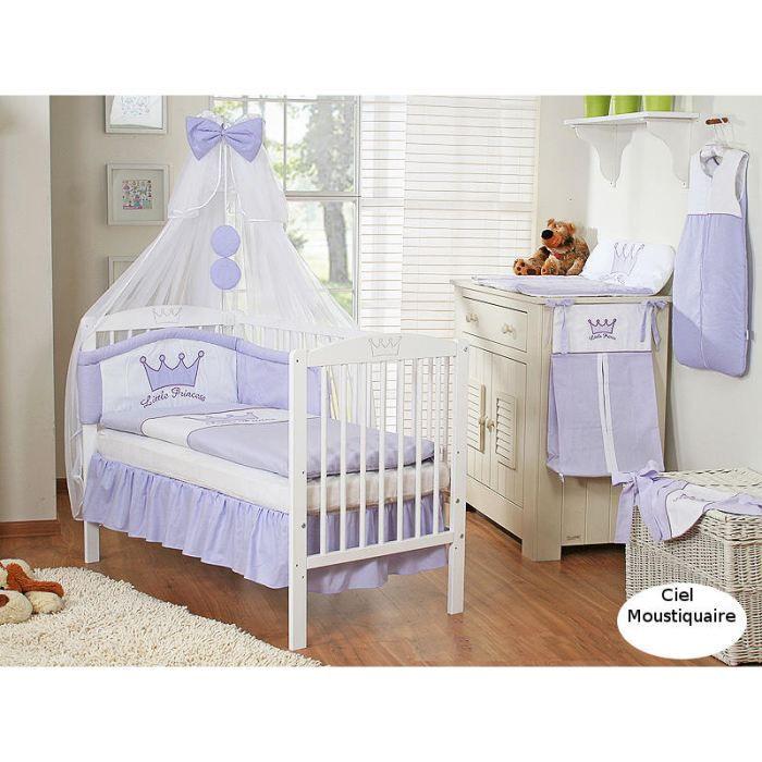 Ciel de lit bébé en moustiquaire - mauve - Achat / Vente ciel de lit ...