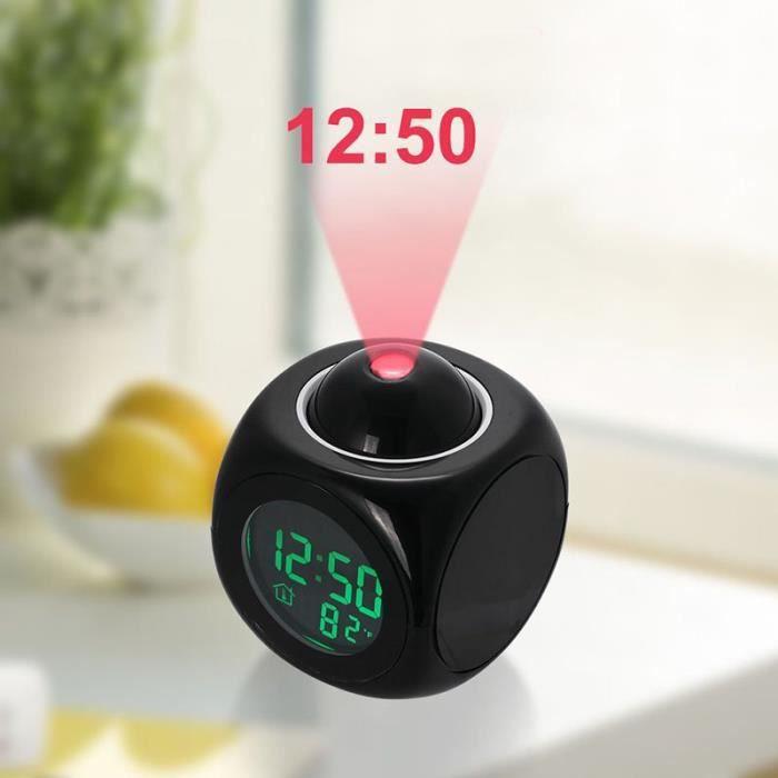 reveil projecteur piles achat vente pas cher. Black Bedroom Furniture Sets. Home Design Ideas