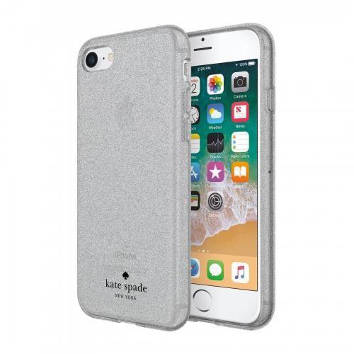 Kate Spade New York Coque Flexible à Paillettes pour iPhone 8 - Paillettes Argent