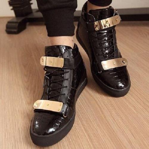 chaussures hommes aider haut pour hommes des occasionnels dessus Métal haut Enq1ZvEa