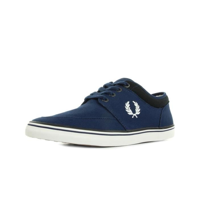 Baskets Fred Perry Stratford Canvas French Navy Snow White