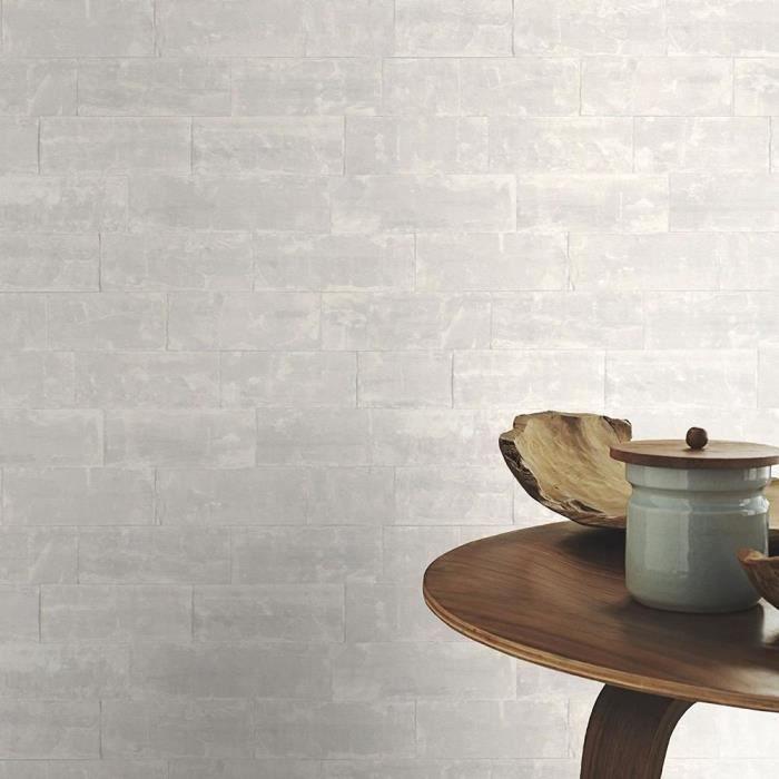Rasch papier peint motif de briques mur en pierre gris clair - Achat ...