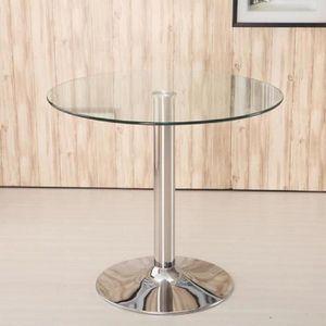 Table ronde extensible achat vente table ronde extensible pas cher cdiscount - Table de salon ronde en verre ...