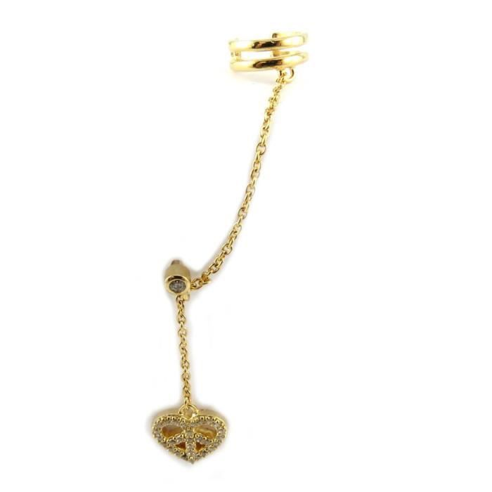 Boucle bague oreille plaqué or Love - Altesse [N6959]