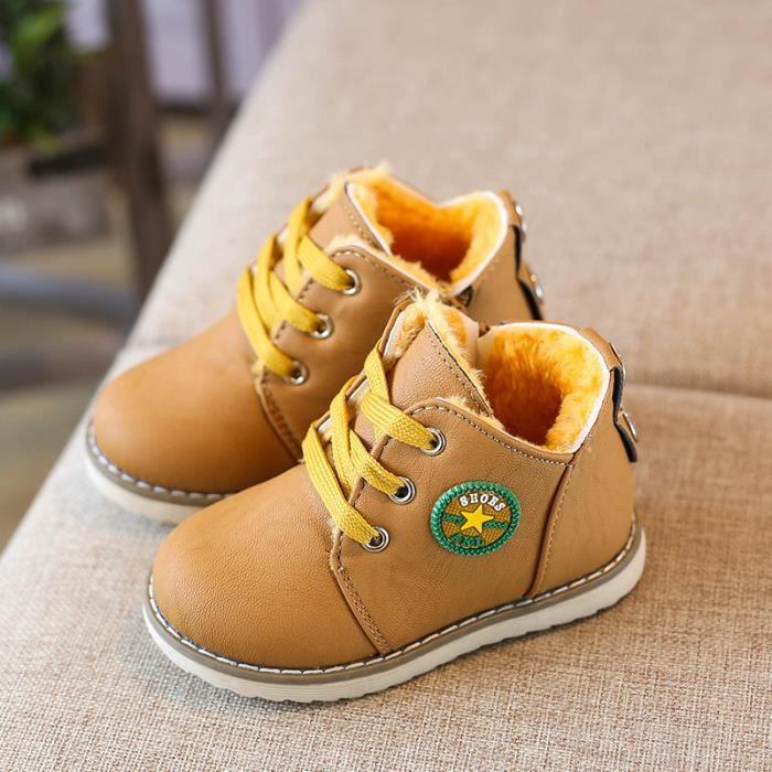 Bottes de neige pour enfants épaississement chaud chaussures en coton chaussures pour enfants 21-30 size x2ljf