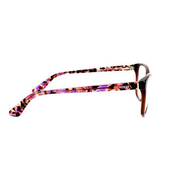 882403a15a05e7 Lunettes de vue Guess GU2547 -50 Marron transparent - Violet havane - Achat    Vente lunettes de vue Lunettes de vue Guess GU25... Femme Adulte -  Cdiscoun