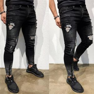 5b7a5017119c ... JEANS huaido Stretch Hommes Skinny Jeans Denim Distresse. ‹›