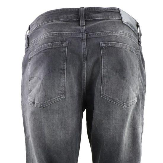 07680d90523e7 Calvin Klein Jean slim straight gris homme FORTUNE (Gris - 28 - 32) Gris  Gris - Achat / Vente jeans - Soldes d'été Cdiscount