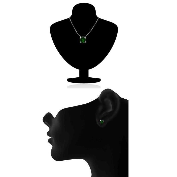 Femmes avec Swarovski Elets Vert Classic Solitaire rhodié Pendentif Set Pour Nl1104142rdgre ENLN4