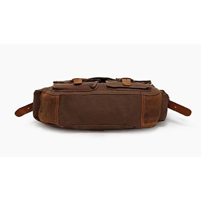 Trendy colonial Italian Style Messenger Bag With Leather Straps New EA8Y5