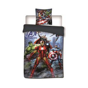 HOUSSE DE COUETTE ET TAIES Avengers Marvel - Parure de couette 140x200 + taie