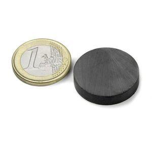 AIMANTS - MAGNETS Disque Ø 25 x  5mm Ferrite Y35 sans placage adhére
