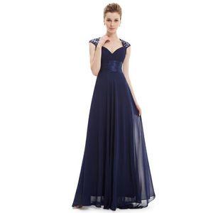 a2a2da503df ROBE DE CÉRÉMONIE Robe longue de soiree bleu marine pour mariage en