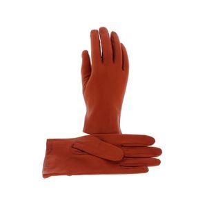 GANT - MITAINE Gants femme Isotoner cuir et soie - Orange
