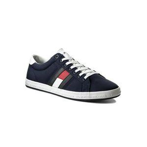 Tommy hilfiger Sneakers Man Gris Gris - Achat / Vente basket  - Soldes* dès le 27 juin ! Cdiscount