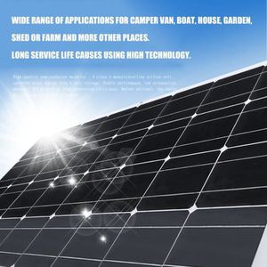 KIT PHOTOVOLTAIQUE Panneau solaire 140W monocristallin Flexible Systè