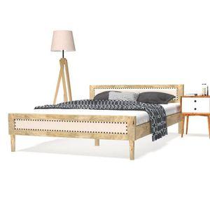 Lit manguier achat vente pas cher - Cadre de lit en bois massif ...