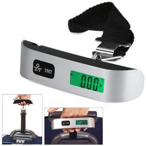 PÈSE-BAGAGE 50kg/10g Balance Bagages Electronique LCD affichag