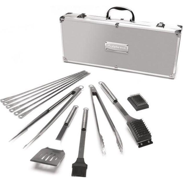 CUISINART Kit valise premium 13 ustensiles - SBQ01E - pour barbecue - Acier/Aluminium