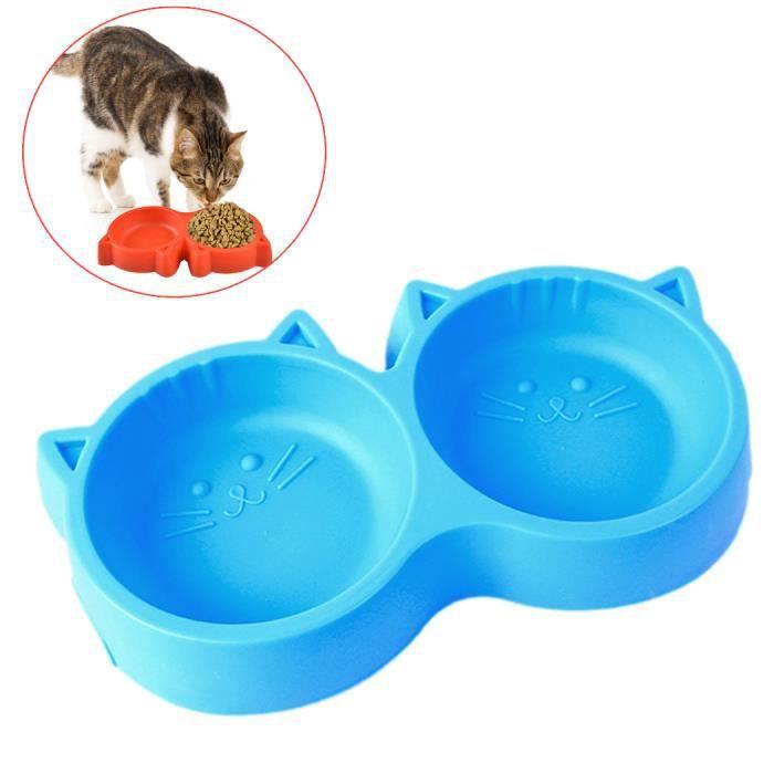 James De Plastique Jaune Bol Double Chat Dishes, Feeders & Fountains Pet Supplies