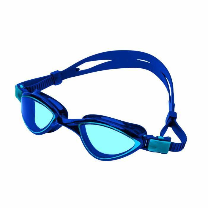 Lunettes de natation « Predator » anti-chlore 100% anti-UV + anti-buée  bande solide silicone lunettes de plongée sécurité. bleu 41c4c6bc2aae