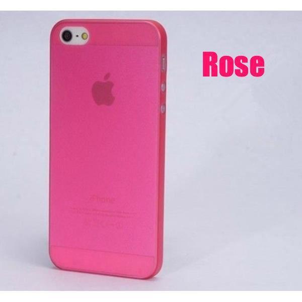 coque iphone 5 rose transparente