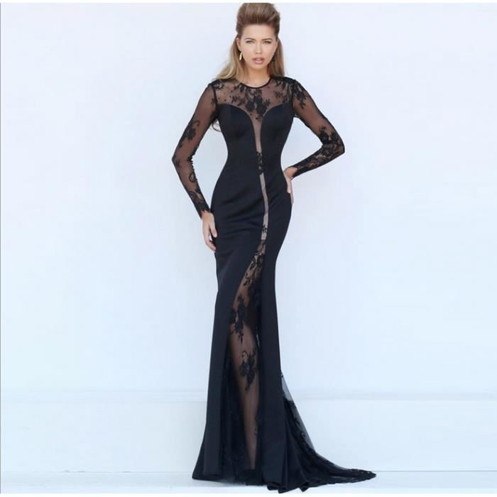 Longueur dentelle robe de soirée
