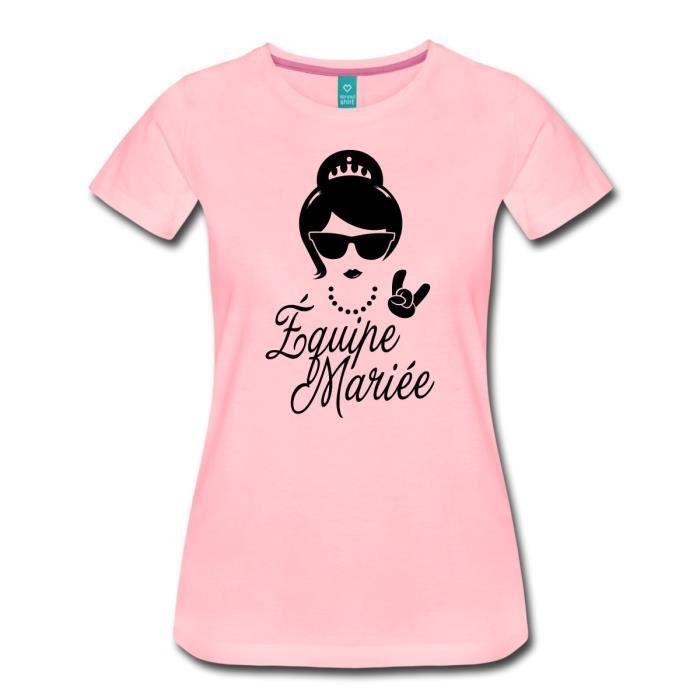 ac3667438e8 EVJF Équipe Mariée Princesse T-shirt Premium Femme de Spreadshirt ...