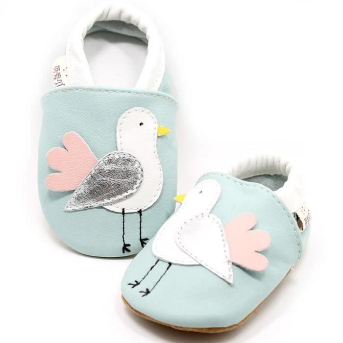 cute bird étoiles chaussures de bébé doux bambin Chaussons Bébé en Cuir Doux