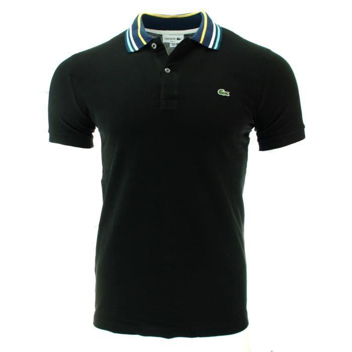 1417c73c83 POLO LACOSTE HOMME NOIR Noir NOIR - Achat / Vente t-shirt - Cdiscount