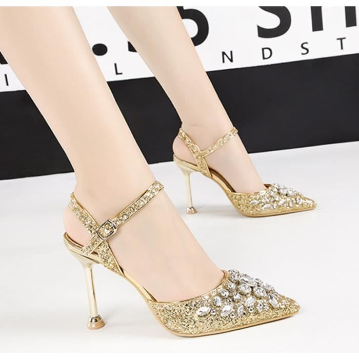 f76bcfd3b1f864 Chaussures mariage a strass - Achat / Vente pas cher