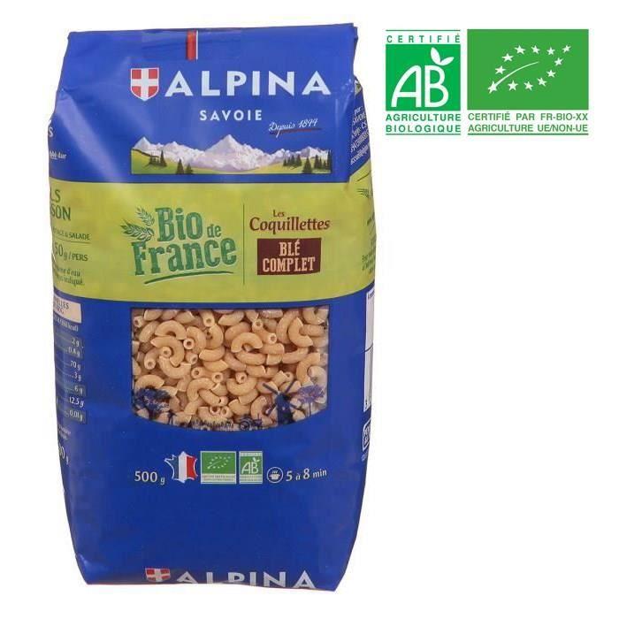PÂTES ALIMENTAIRES Coquillettes blé complet bio 500g