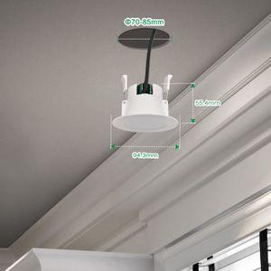 Spot salle de bain achat vente spot salle de bain pas cher cdiscount - Lampe encastrable plafond ...