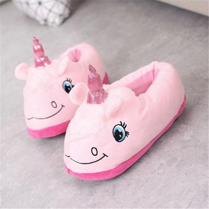 Pantoufles Licorne Hiver Meilleure Qualité Occasionnelles Animaux Mignons Pantoufles En Coton Intérieur Ultra Confortable 18xwNwZWr
