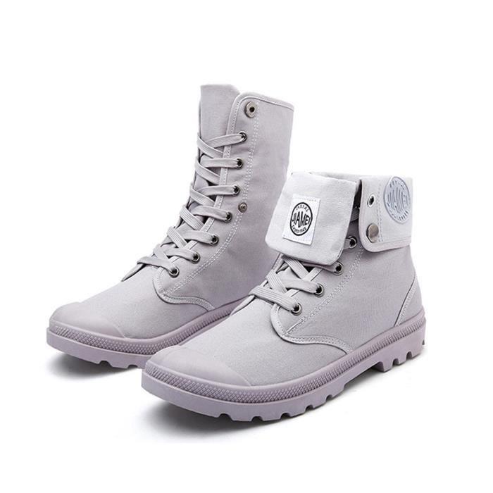Minetom Automne Hiver Angleterre Cuir Chaussures Martin Botte pour Homme Bottines À Lacets de Moto Boots Flattie Sport KXsQy