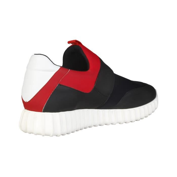 Made in Italia - Sneakers pour homme (LEANDRO_NERO_ROSSO) - Noir