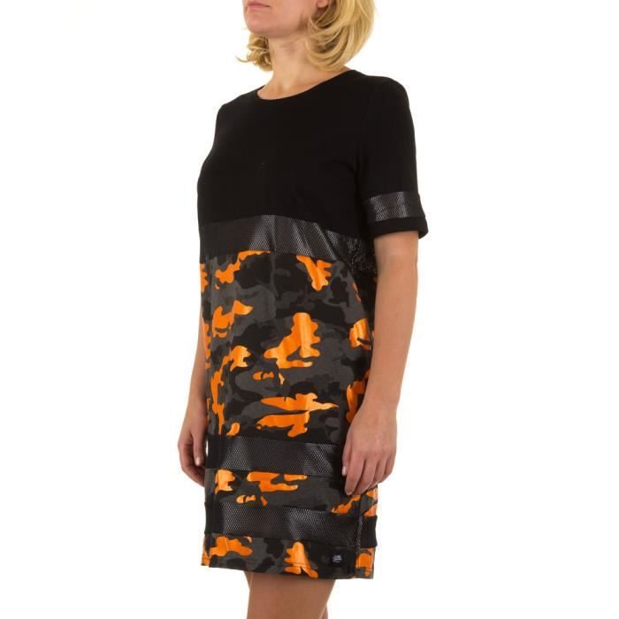 Femme robe Sixth June Camouflage Stretch noir S