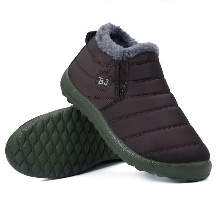 Bottes hiver neige cheville fourrure Doublure Slip extérieure imperméable chaussures de sport pour des couvre-chaussures Et les femm QuXjHayCE