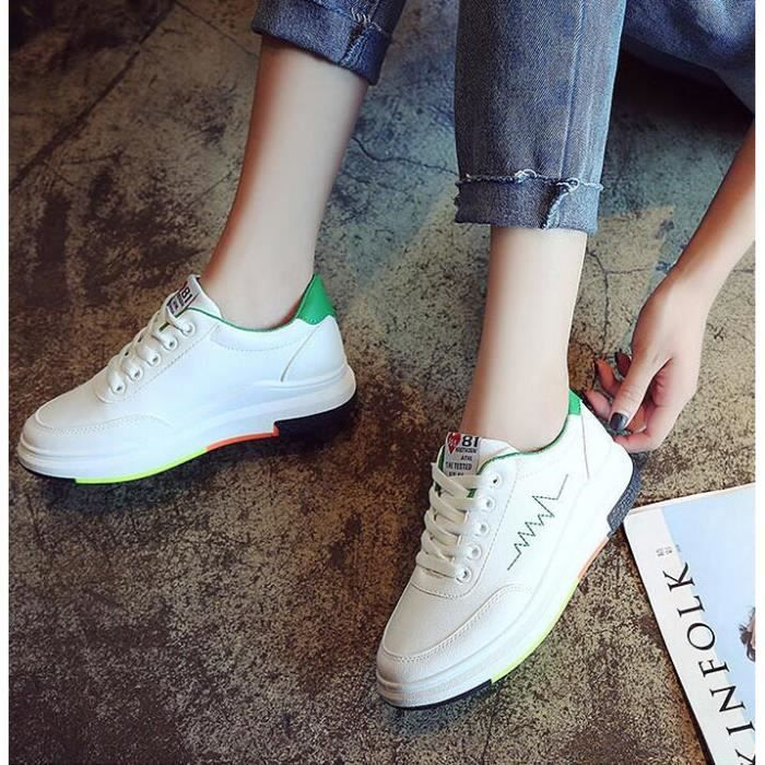 WONZOM® Femme Sneakers Chaussures occasionnelles Baskets Basses Chaussure Baskets à lacets taille 35-40