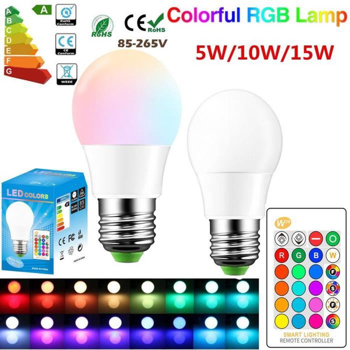 De Stroboscopique Mode Lampe Ampoule Led Lumières Flash Fade 2pcs 15w E27 Éclairage Couleur Décoratives Rgbw Changeant rdxBQeWCo