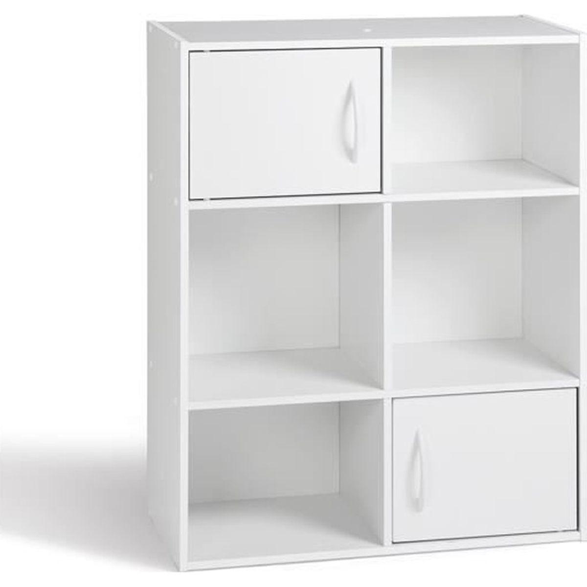 Petit Meuble De Rangement Blanc.Meuble De Rangement Blanc En Panneaux De Particules 61 5x29 5x80 Cm