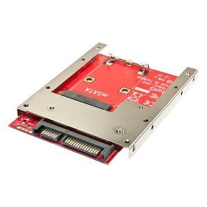 LINDY Adaptateur de montage SATA 2,5 pour disques SSD mSATA\